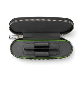 Graf-von-Faber-Castell - Zipper case for 2 pens Bentley Black
