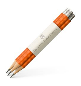 Graf-von-Faber-Castell - 3 spare pencils Perfect Pencil, Burned Orange