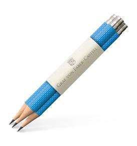 Graf-von-Faber-Castell - 3 spare pencils Perfect Pencil, Gulf Blue